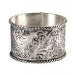 Montana Silversmiths Antique Silver Engraved Bangle