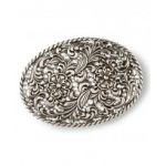 Nocona oval floral belt buckle