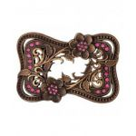 Montana Silversmiths Wild Rose Crystal Buckle