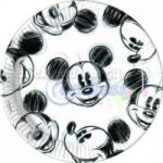 Set 25 farfurii party Mickey Faces 23 cm