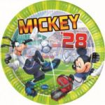 Set 8 farfurii party Mickey Goal 23 cm