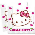 Set 20 servetele party Hello Kitty Hearts