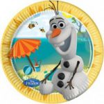 Set 8 farfurii party 20 cm Olaf Summer