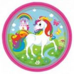 Set 8 farfurii party - Unicorn 23 cm