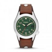 Fossil - The Aeroflite Three-Hand Date Leather Watch - Brown