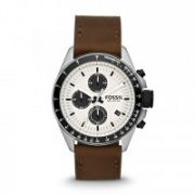 Fossil - Decker Chronograph Leather Watch - Brown
