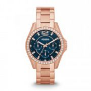 Fossil - Riley Multifunction Stainless Steel Watch - Rose