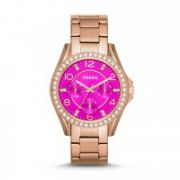 Fossil - Riley Multifunction Stainless Steel Watch – Rose Gold-Tone