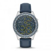 Fossil - Stella Electro Tick Digital Leather Watch - Blue