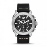 Fossil - Modern Machine Chronograph Leather Watch - Black