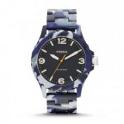 Fossil - Nate Three-Hand Resin Watch – Blue Camo