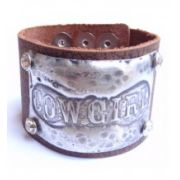 "Jewelry Junkie ""Cowgirl"" Stamped Molten Metal Leather Cuff Bracelet Previous Product"