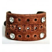 "Jewelry Junkie Hand-Stamped ""Faith"" Leather Cuff Bracelet"