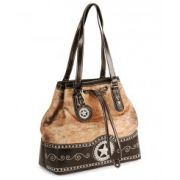 Blazin Roxx Faux Hair-On-Hide Drawstring Handbag