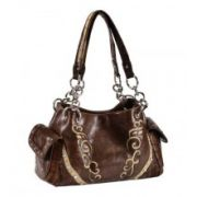 Blazin Roxx Underlay with Scroll Satchel Bag