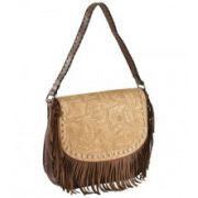 Blazin Roxx Fringe Embossed Messenger Bag