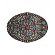 Montana Silversmiths Starburst Flower Belt Buckle