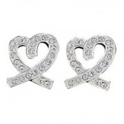 Montana Silversmiths Rhinestone Heart Earrings