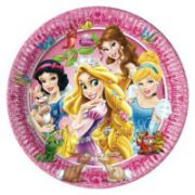 Set 8 farfurii party Princess and Animals 20 cm