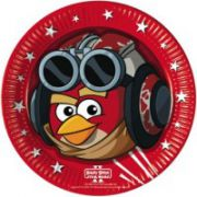 Set 8 farfurii party Angry Birds Star Wars 23 cm
