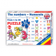The numbers from 1 to 20 - Puzzle 60 piese