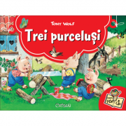 Trei purcelusi. Carte Pop-up - 3D