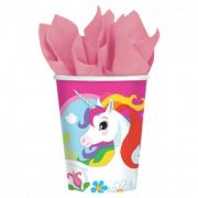 Set 8 pahare party Unicorn 266 ml