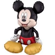 Balon folie figurina sitter Mickey Mouse