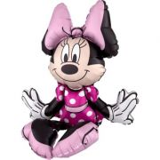 Balon folie figurina sitter Minnie Mouse