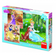 Puzzle 3 in 1 - Printese jucause (55 piese)