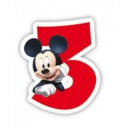 Lumanare party cifra 3 Mickey Mouse