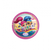 Set 8 farfurii carton party 23 cm Shimmer and Shine
