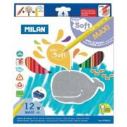 Creion color 12 culori super soft MILAN