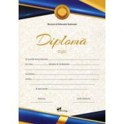 Diploma - Format A4, model imagine academica, albastru