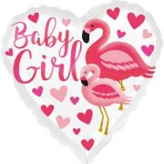 Balon folie 45 cm Flamingo Baby Girl