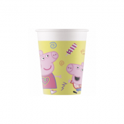 Set 8 pahare party din carton, 200 ml Peppa Pig