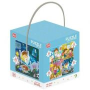 Puzzle 4 in 1 - Activitatile zilnice 12, 16, 20, 24 piese