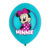 Set 6 baloane party Minnie 28 cm