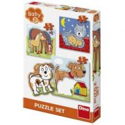 Baby puzzle - Animalute jucause, 3-5 piese