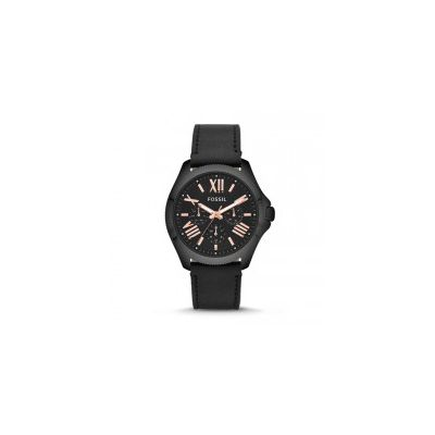 Fossil - Cecile Multifunction Leather Watch - Black