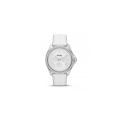 Fossil - Cecile Multifunction Leather Watch - White