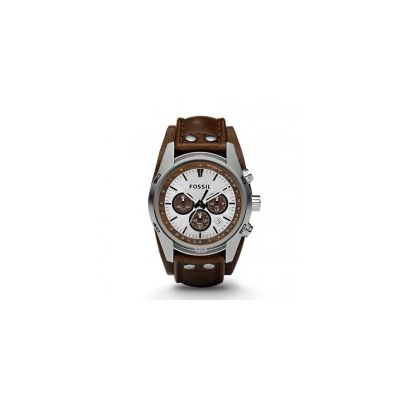 Fossil - Cuff Chronograph Leather Watch – Tan