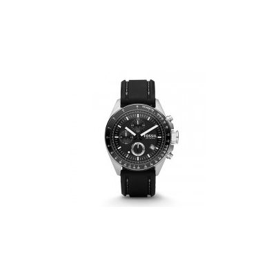 Fossil - Decker Chronograph Silicone Watch - Black