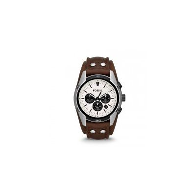 Fossil - Coachman Chronograph Leather Watch - Brown
