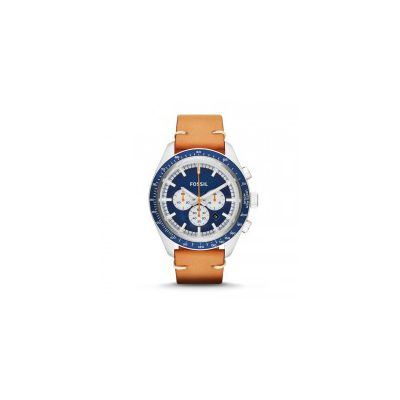 Fossil - Edition Sport Chronograph Leather Watch - Tan
