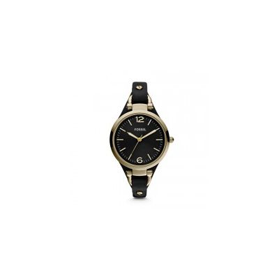 Fossil - Georgia Three Hand Leather Watch - Black