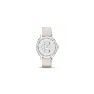Fossil - Chelsey Multifunction Leather Watch – White