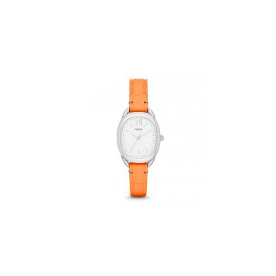 Fossil - Sculptor Three-Hand Leather Watch - Coral