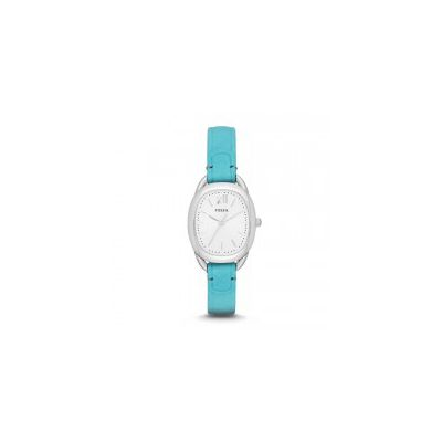 Fossil - Sculptor Three-Hand Leather Watch - Blue
