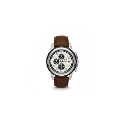Fossil - Dean Chronograph Leather Watch - Brown